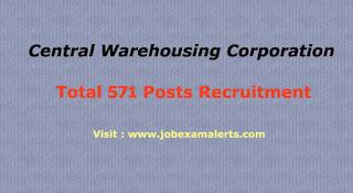 central warehousing corporation recruitment