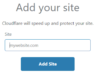 add site to cloudflare