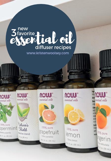 Essential Oil Diffuser Recipes! www.kristenwoolsey.com