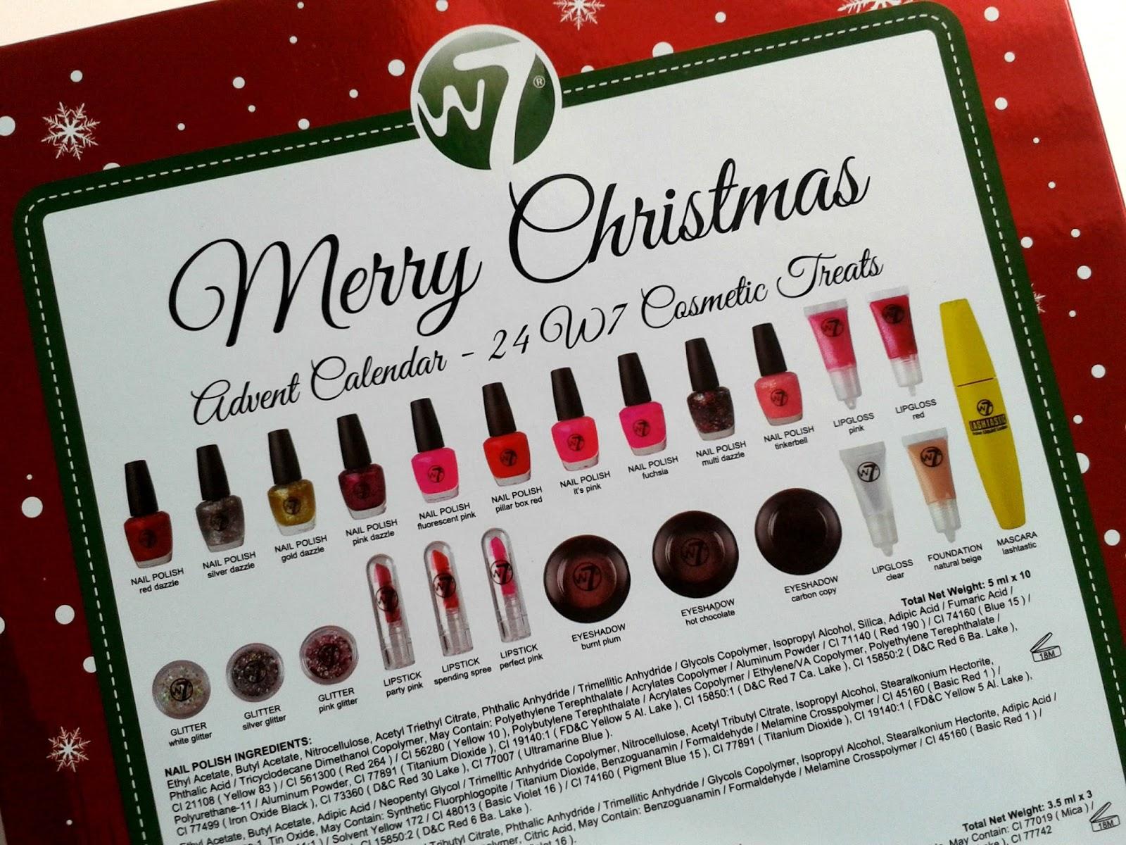 W7 Countdown to Christmas Advent Calendar Blog Review