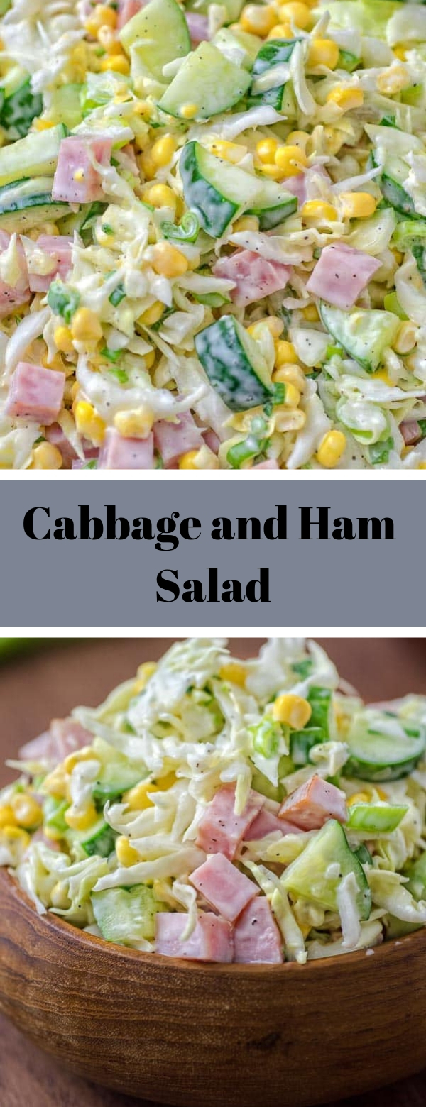 Cabbage and Ham Salad #glutenfree #lunch #salad