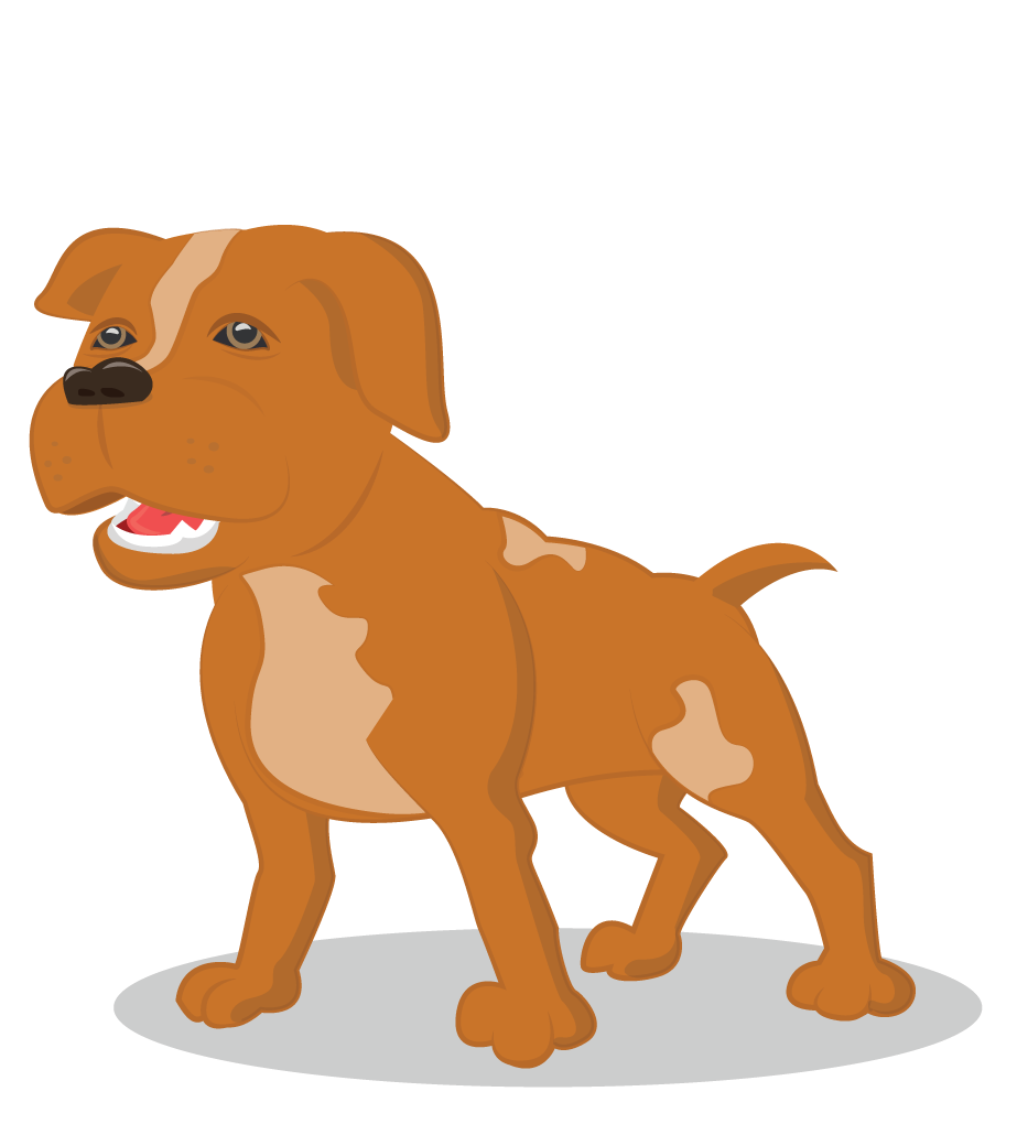 Wikilustrasi Anjing Pitbull Lucu