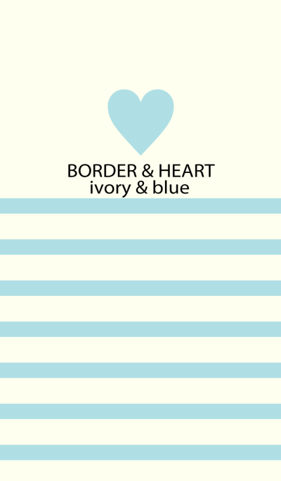 BORDER & HEART-ivory&blue-