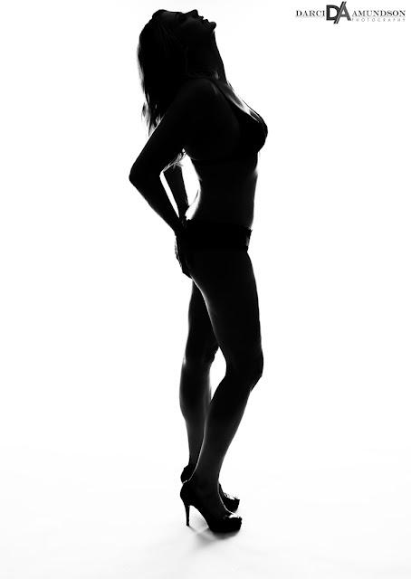 sexy silhouette boudoir photographer Denver
