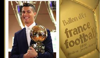 Kalahkan Messi, Ronaldo Sabet Ballon d'OR 2016