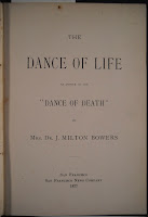 "The title page for ""The Dance of Life."""