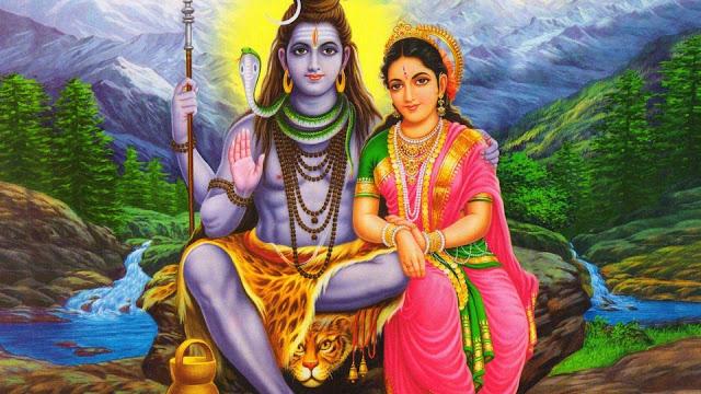 Lord Shiva & Parvathi Wallpaper Full Size In Desktop