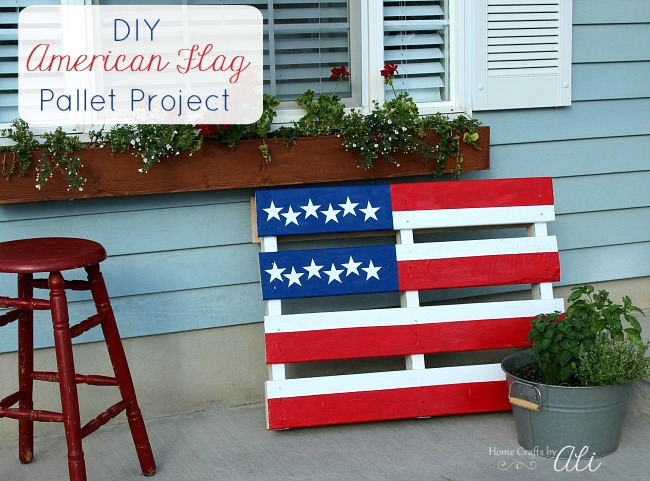 Wood DIY American Flag pallet tutorial