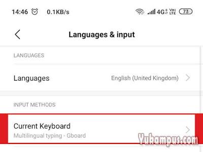 keyboard bawaan xiaomi