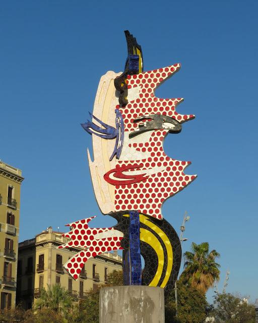 El Cap de Barcelona (The Head of Barcelona) by Roy Lichtenstein, Passeig de Colom, Barcelona