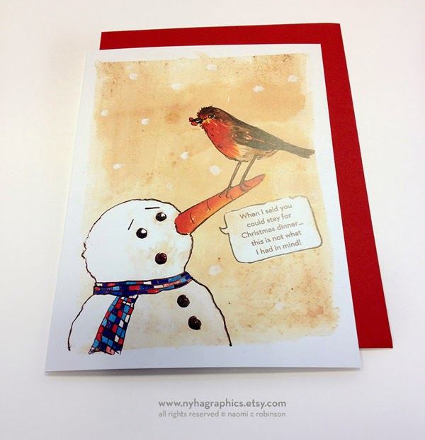 Rude Robin Christmas Cards