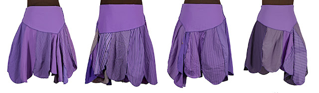 PURPLISSIMO purple handmade upcycled skirts from secret lentil clothing