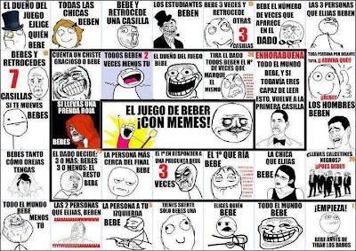 El juego de beber con Memes