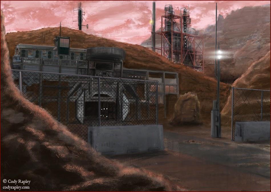 Mars colony by Cody Rapley