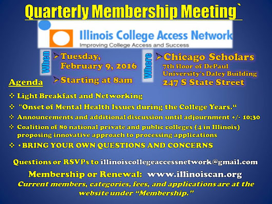 Do-Gooder Consulting: Illinois College Access Network February 2016 meeting = Feb 9