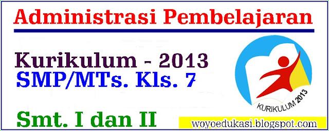 ADMINISTRASI PEMBELAJARAN KURIKULUM 2013 SMP/MTs MAPEL BAHASA INGGRIS KELAS 7 SMT 1 DAN 2 REVISI 2017
