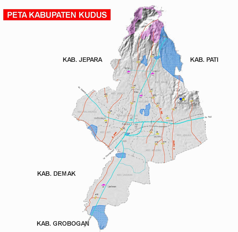 Peta Kabupaten Kudus Lengkap 9 Kecamatan