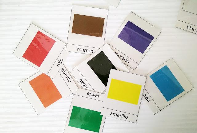imprimible los colores montessori