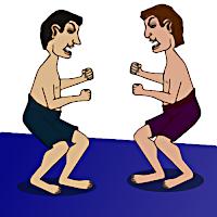 Cartoon of Oracle V Google fighting