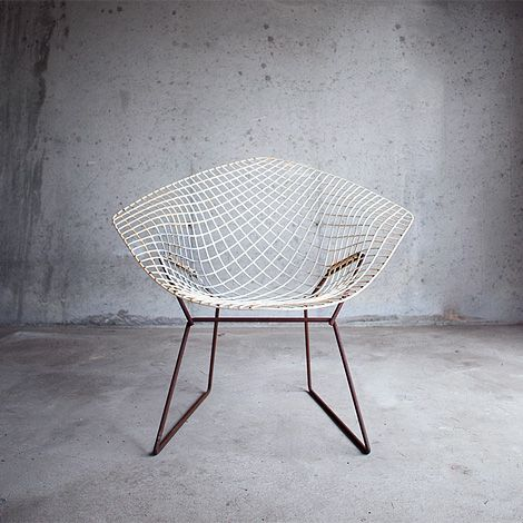 diamond chair blanche