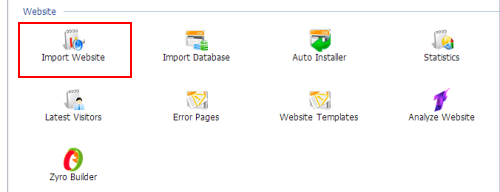 Import Webstie en cPanel