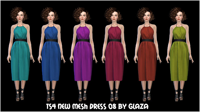 TS4 NEW MESH DRESS 08 BY GLAZA