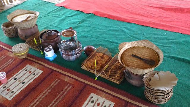 Menu makan siang di Pujon Kidul