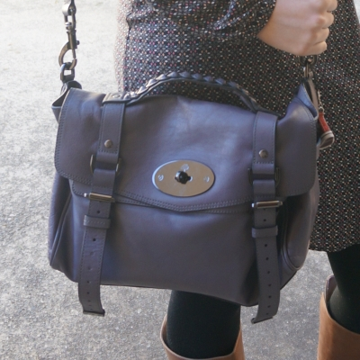 Mulberry Foggy Grey Alexa satchel bag | Away From The BLue