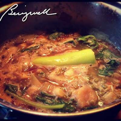 Cooking Munggo with Ginger (Soup Recipe)