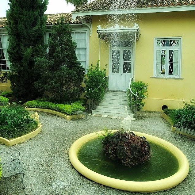 Jardim da casa do político Carlos Barbosa, em Jaguarão
