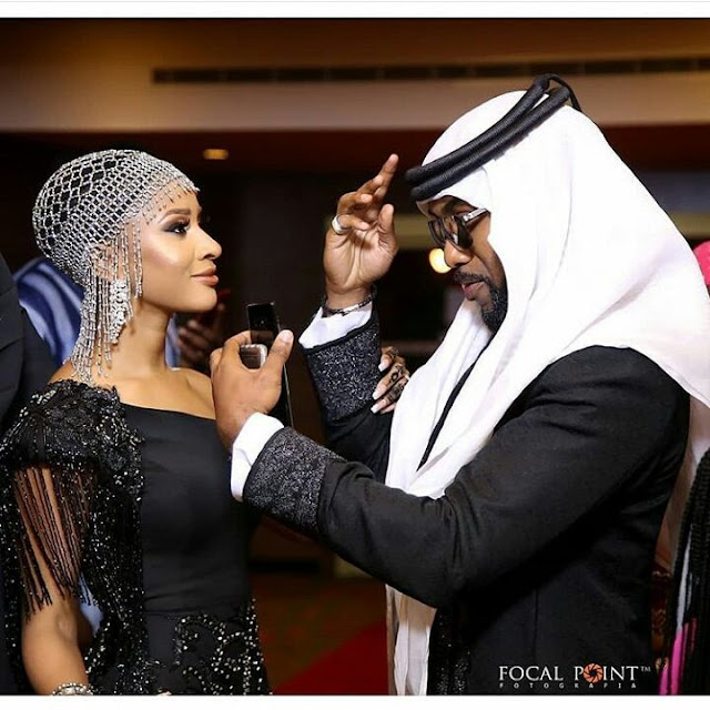 See how Banky W and Adesua stepped out for the Wedding Party 2 premiere