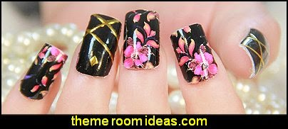 flower nail art sticker -  flower nail art sticker