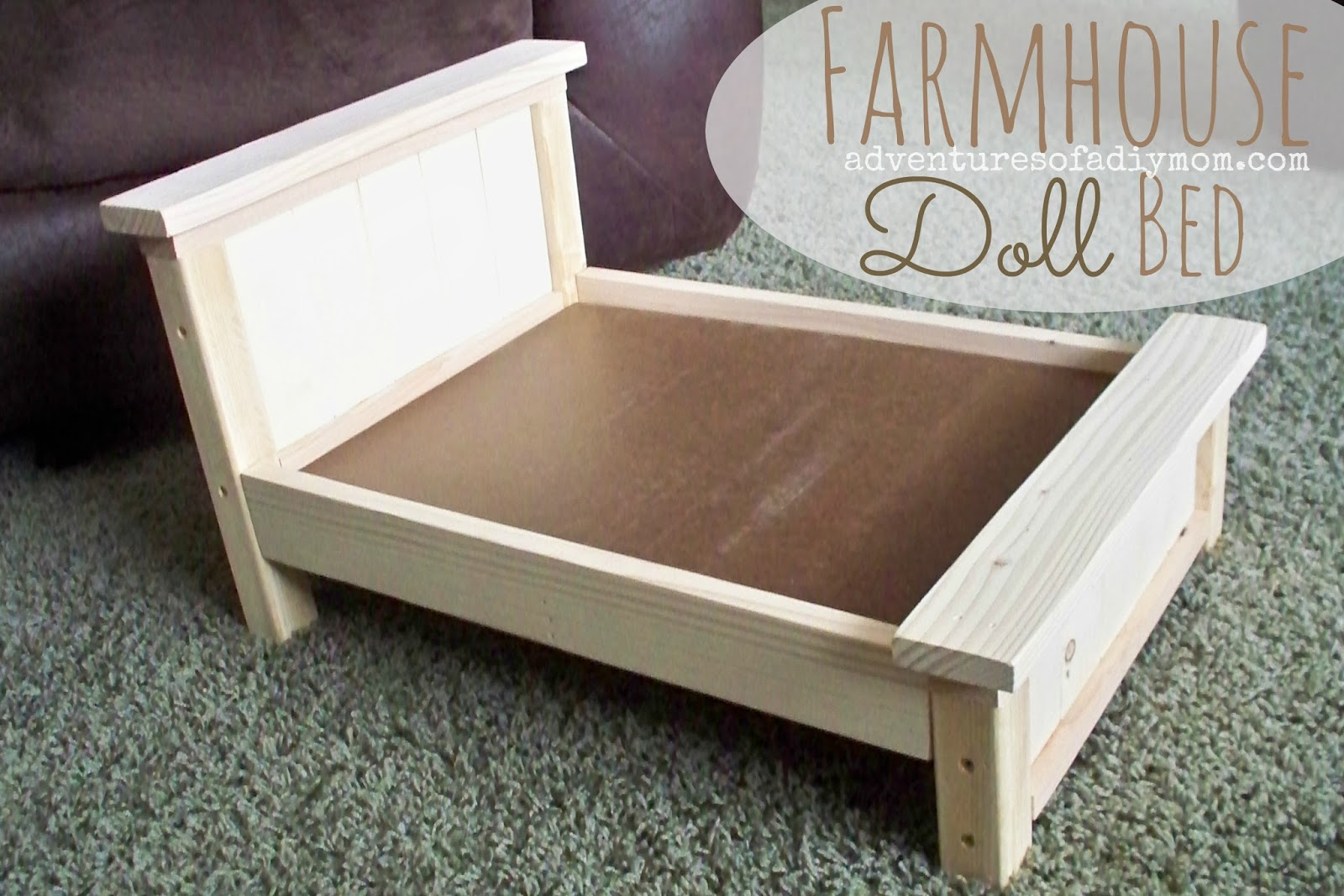 Farmhouse Doll Bed for American Girl Doll