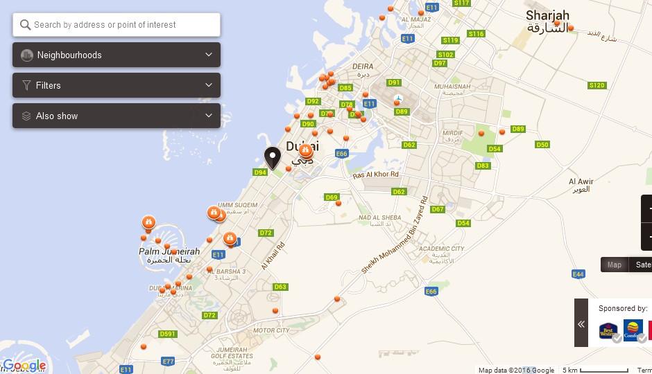 Safa Park Dubai Map Dubai Tourists Destinations and Attractions – Dubai Tourist Attractions Map