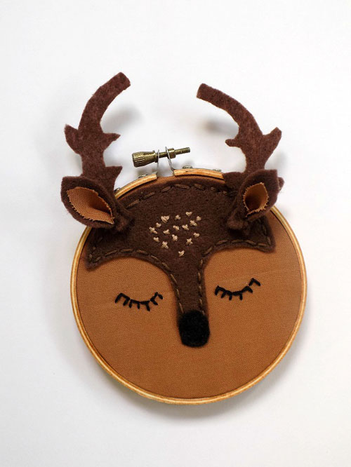 Woodland Animals Mini Embroidery Hoops: Fall Craft For Kids