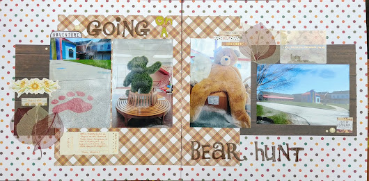 Going on a Bear Hunt Scrapbook Page