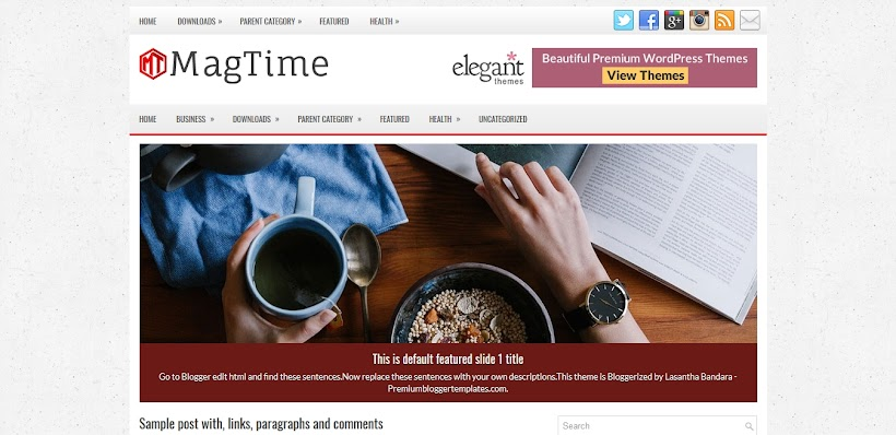 MagTime Free Blogger Template