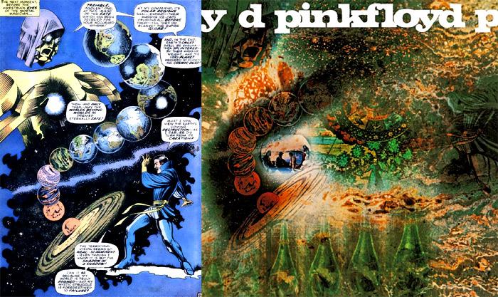 "Capa do Álbum ""A Sauceful of Secrets"" do Pink Floyd"