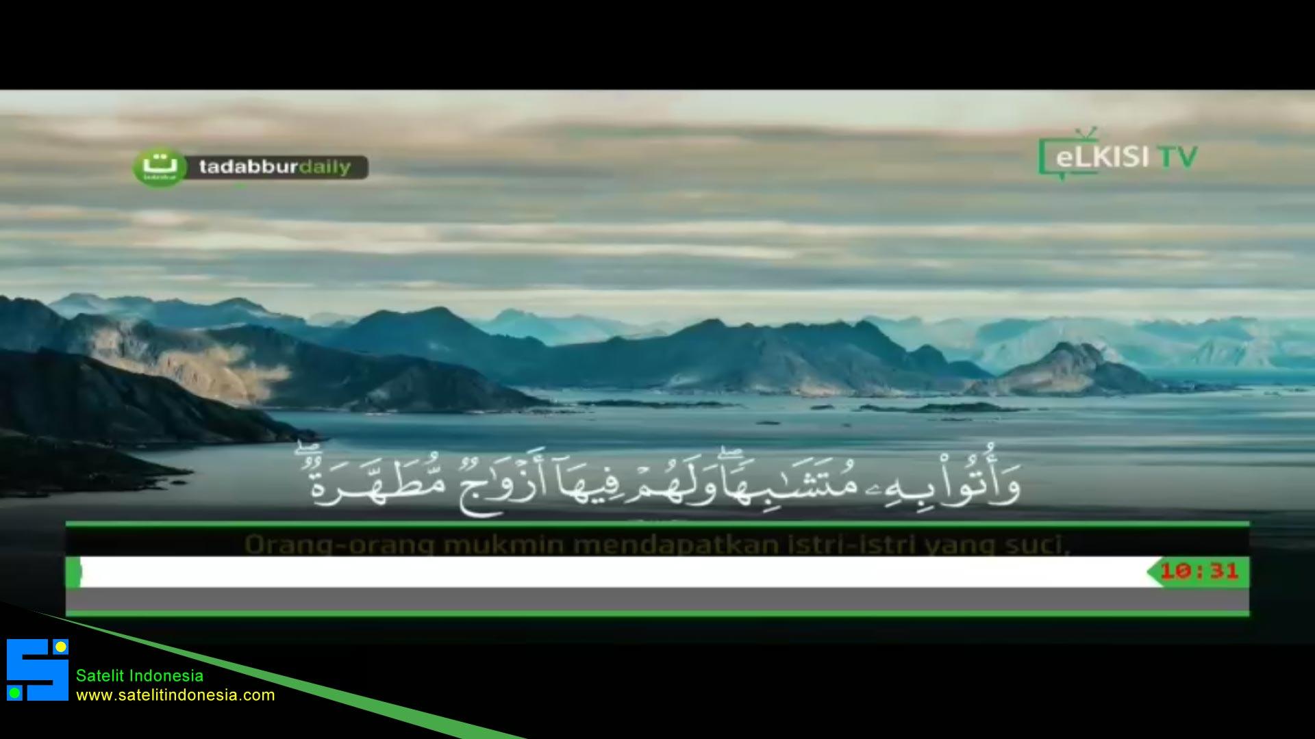 Frekuensi siaran eLKISI TV di satelit Palapa D Terbaru