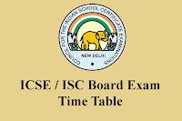 ICSE Date Sheet