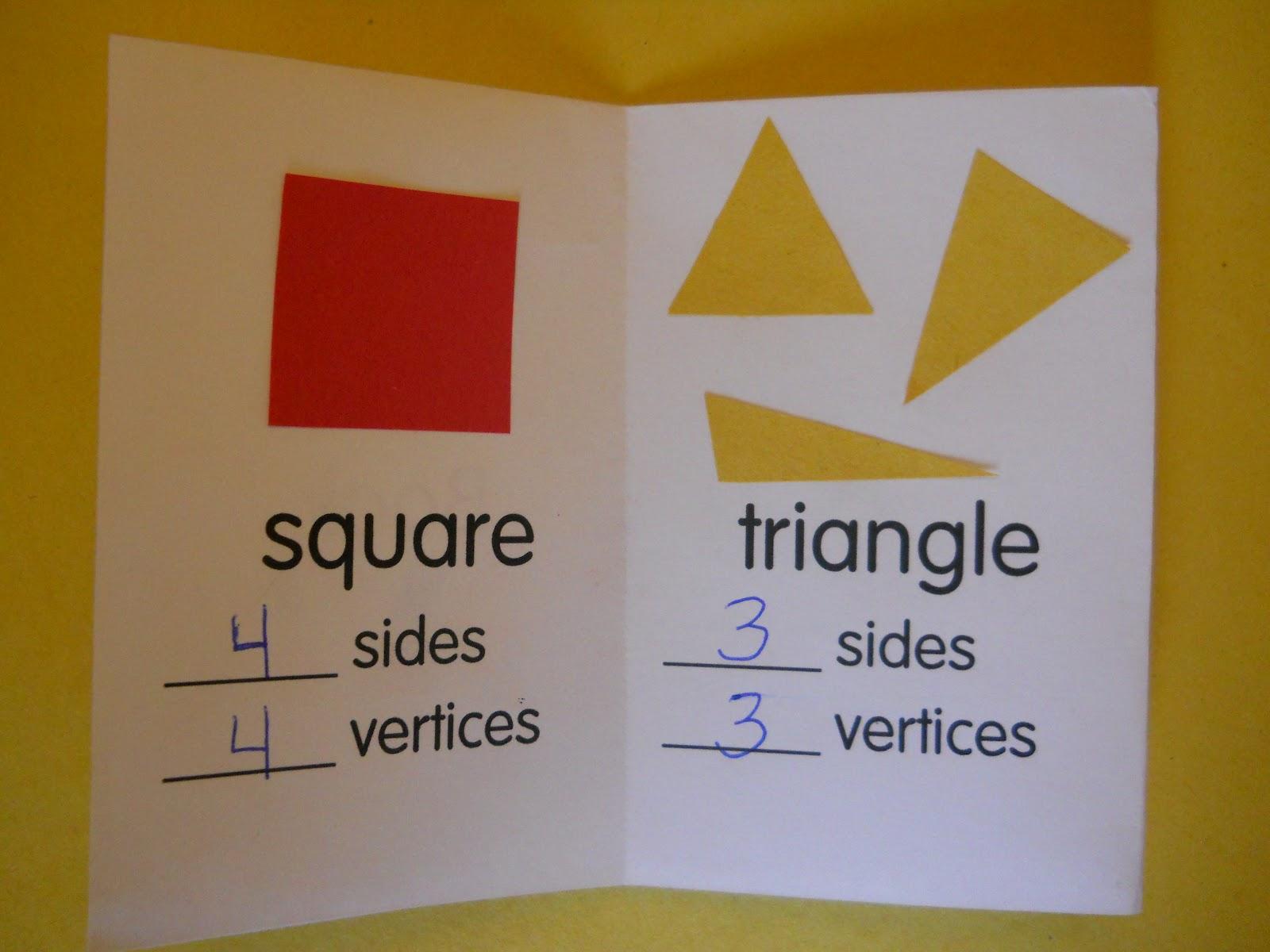 Mrs T S First Grade Class 2d Shape Mini Book