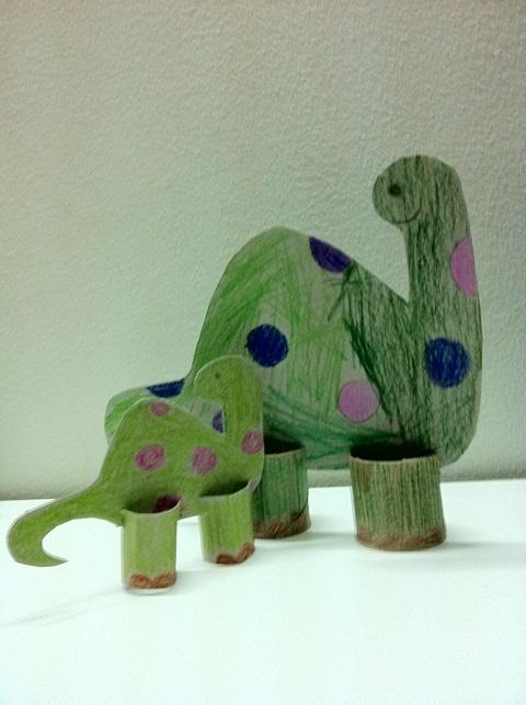 Dinosaur Toilet Paper Roll Craft