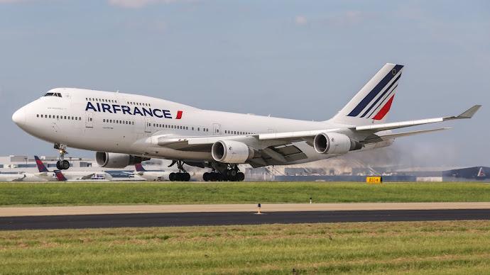 Wallpaper: Air France Boeing 747