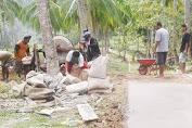 Warga Desa Kembang Ragi Gotong Royong Bangun Jalan Di Dusun Lajongko