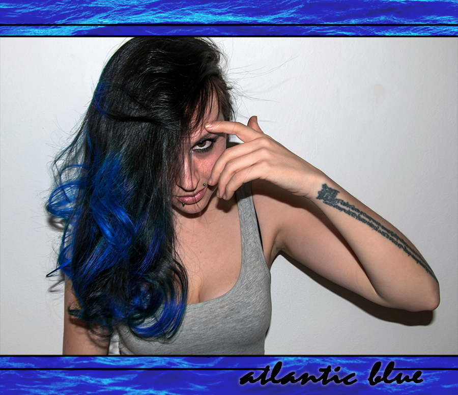 For Peet's Sake blog black and blue ombre hair Directions Atlantic Blue