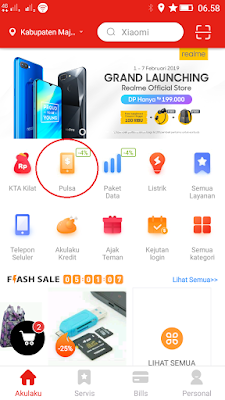 cara mendapatkan pulsa gratis telkomsel dari Aplikasi Akulaku Android