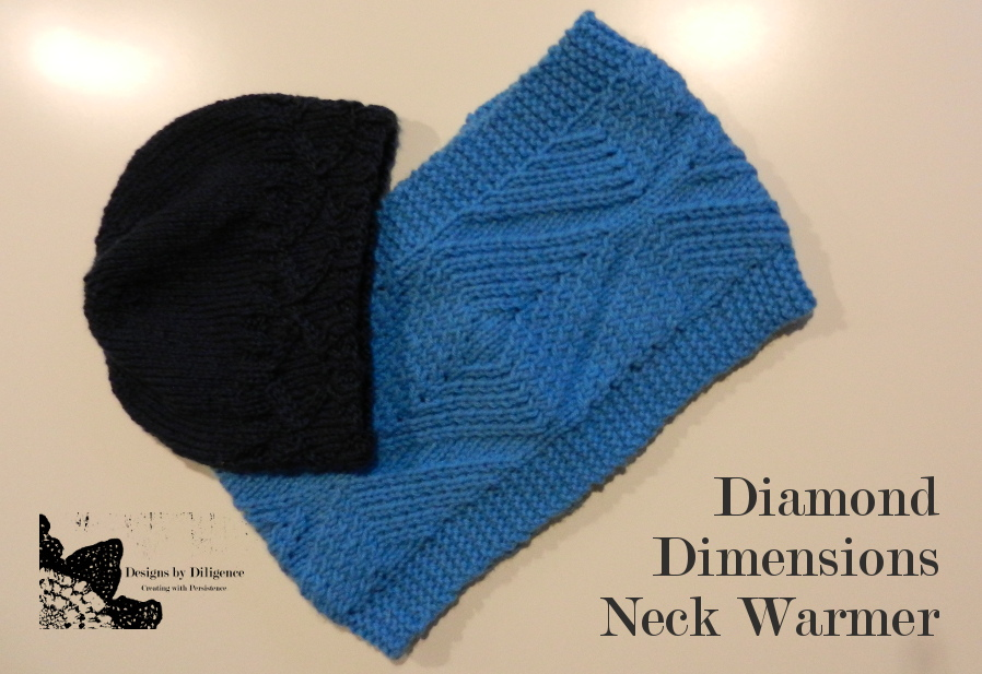 Designs by Diligence: Diamond Dimensions Neck Warmer