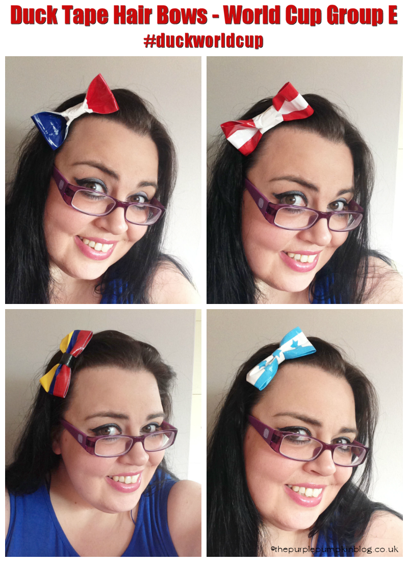 Duck Tape Hair Bows for the World Cup!