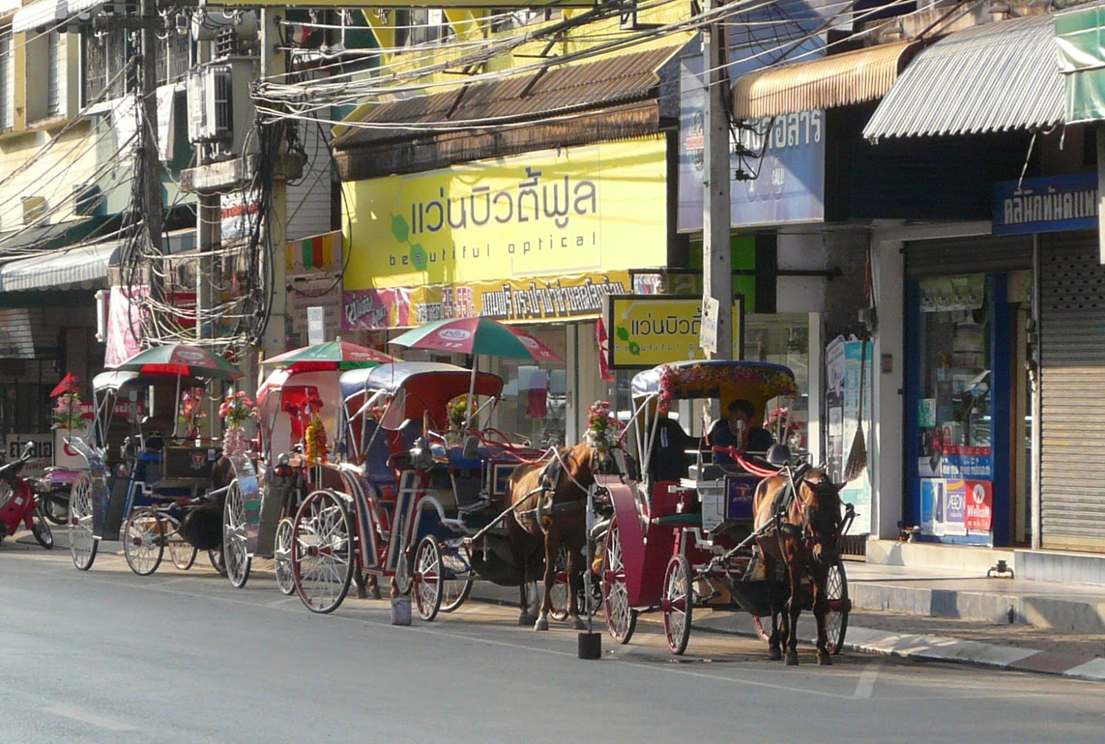 Horse taxis in Lampang