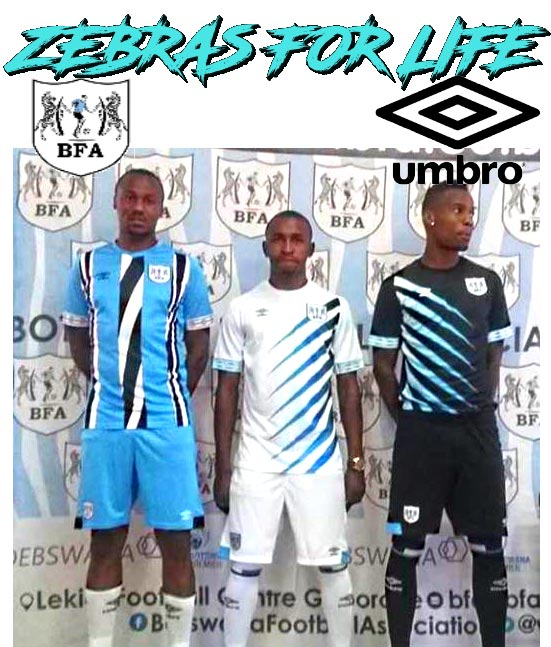 a300b0a8e Umbro Botswana 2019-20 Home, Away & Third Kits Revealed - Footy ...